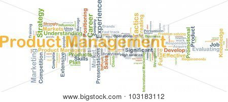 Background concept wordcloud illustration of product management