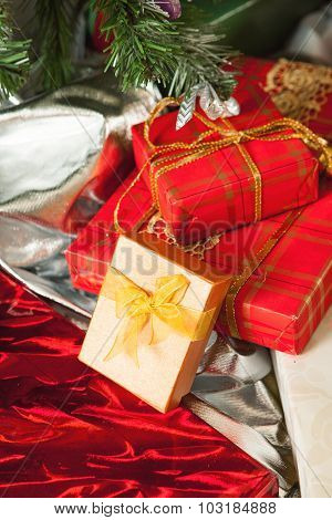 Some gifts under Christmas tree