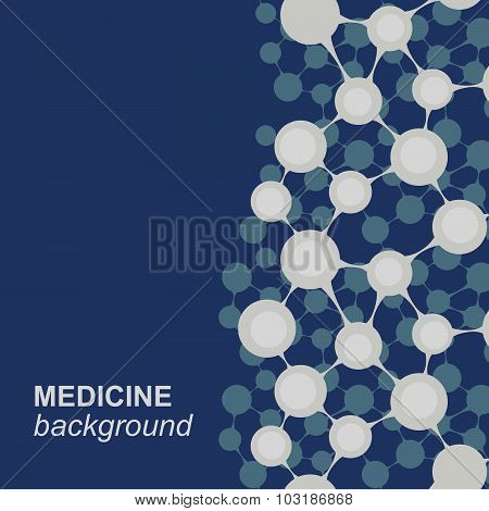 Concept background with integrated metaballs for Business Company, medical, healthcare, network, con