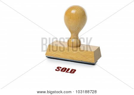 Sold Rubber Stamp