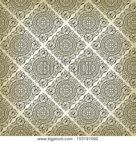 Vintage Art Deco style seamless pattern texture