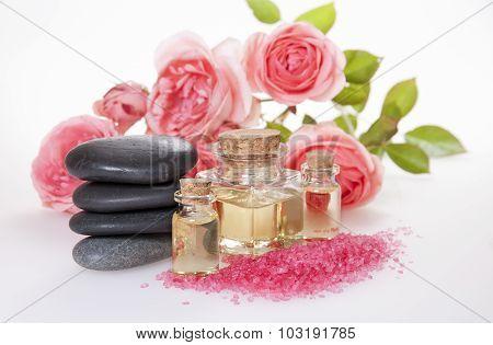 Basalt Stones  , Cosmetic Oil   , Aromatic Bath Salt And Rose.