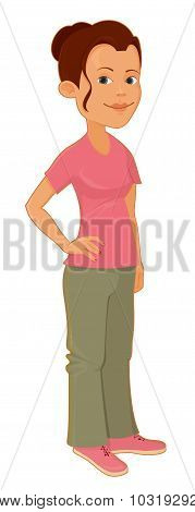 Illustration Of A Cute Woman