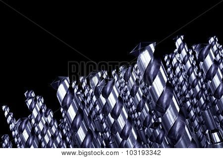 Drill Bits Abstract Background