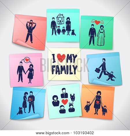Family Stickers Set