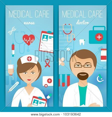Medical doctor banners poster
