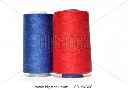 Blue And Red Thread