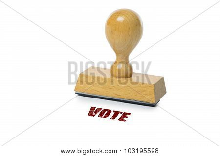Vote Rubber Stamp