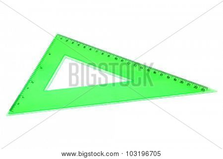 modern green triangle on a white background
