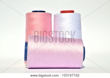 Pink And White Threads