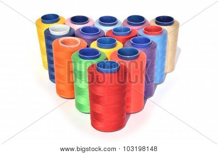 Spools Of Colorful Threads