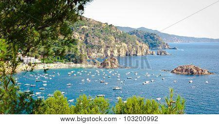 Beach and coast of Tossa de Mar, Spain