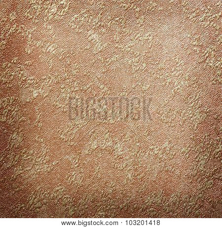 Linen Fabric Background Gold