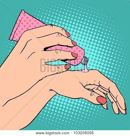 Hand cream cosmetics skin care