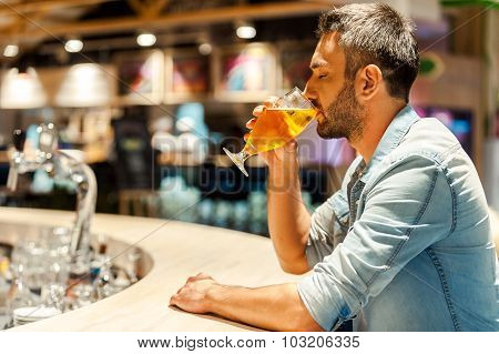Enjoying Fresh Beer.