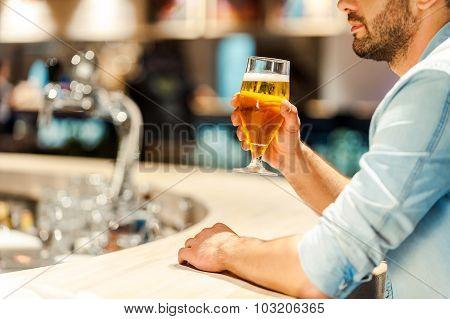 Enjoying Best Beer In Town.
