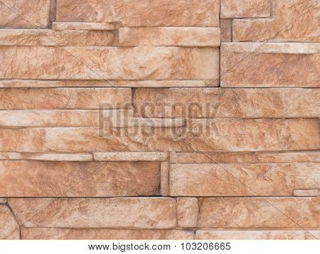 Wall Of Bright Brown Stone