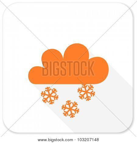 snowing flat icon