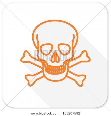 skull flat icon