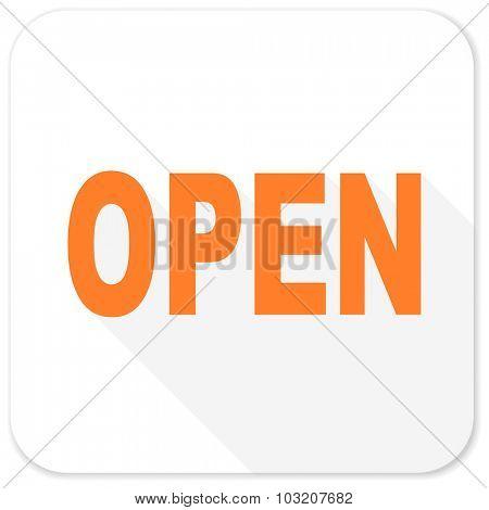 open flat icon