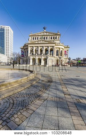 People At Alte Oper At Frankfurt