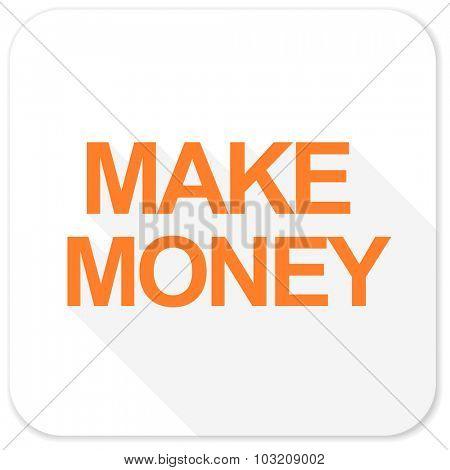 make money flat icon