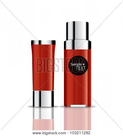Cosmetics packaging, vector illustration.