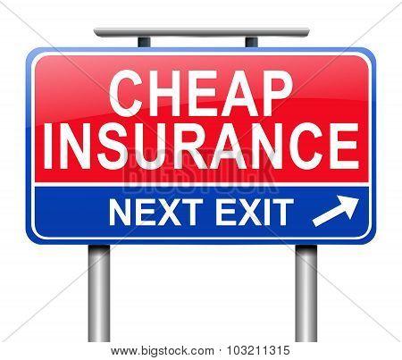 Cheap Insurance Concept.