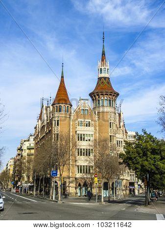 Casa De Les Punxes (casa Terrades) In Barcelona