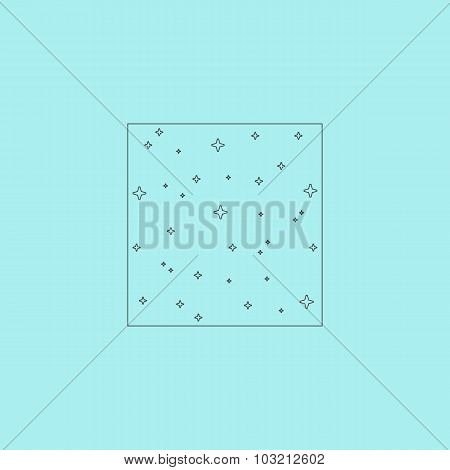 Vector pattern made with stars in square