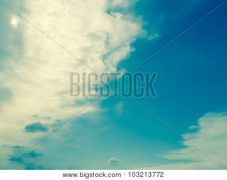 White Cloud And Sky In The Morning