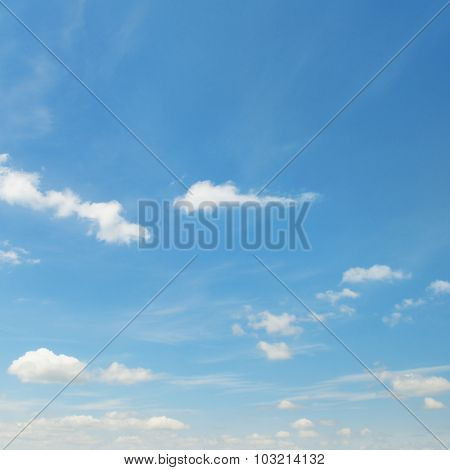 white fluffy clouds on sky
