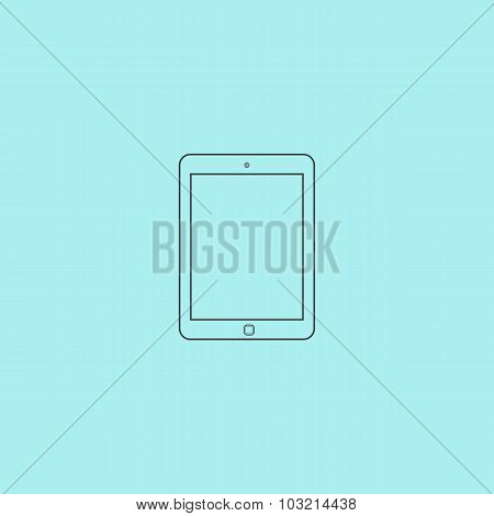 Tablet icon, sign and button
