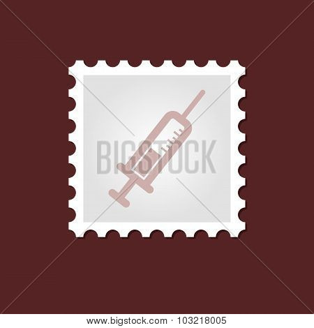 Syringe medical stamp