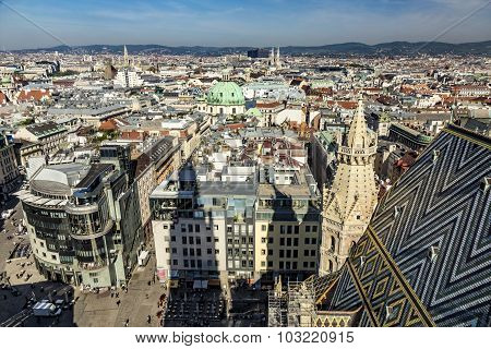 View Of Vienna From The St.stephan Cathedral
