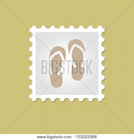 Flip Flops vector stamp