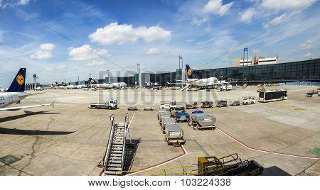 Aircrafts Park At Terminal 1