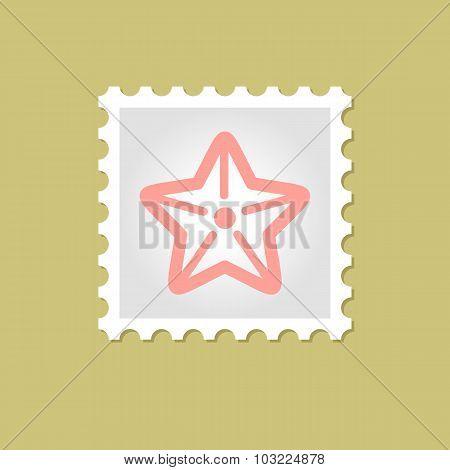 Starfishe vector stamp
