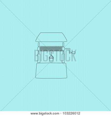 Water Well vector flat