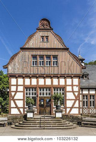 The Old Inhalatorium In Bad Nauheim, Germany Serves As Public Library Nowadays