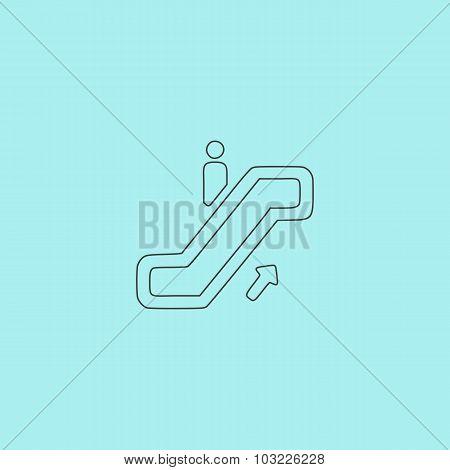 staircase, web icon. vector design
