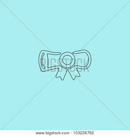 Simple icon diploma.