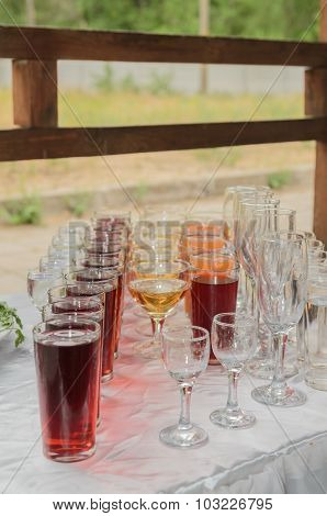 Drinks In Cups And Glasses