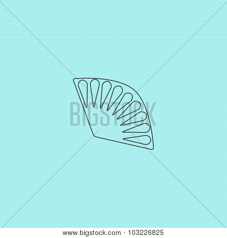 Fan icon isolated. VECTOR illustration.