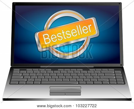 Laptop computer with Bestseller button
