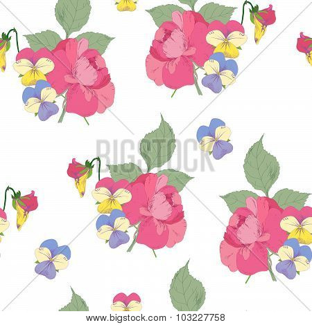 Roses bouquet pattern
