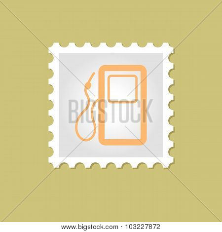 Gas Station vector stamp
