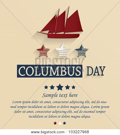 Columbus day card