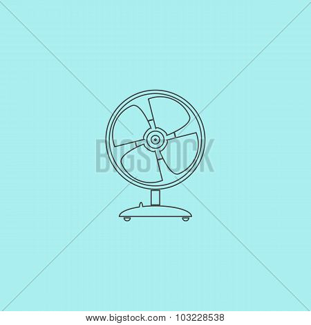table fan - vector illustration