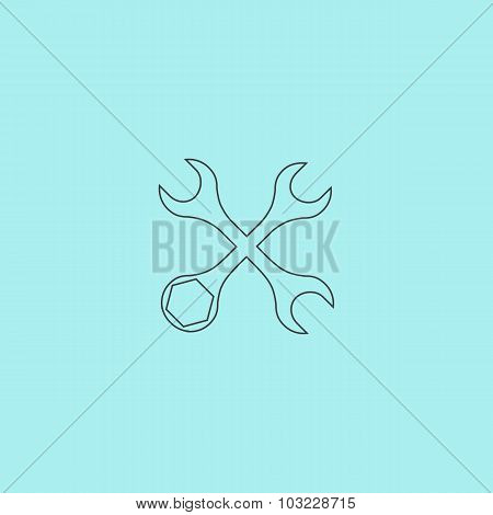 Settings Wrench Icon Vector